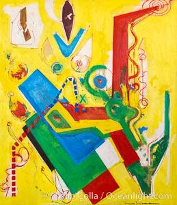 Yellow Predominance, Hans Hofmann, 1949, Le Centre Pompidou. Paris. Musee National dArt Moderne, France, natural history stock photograph, photo id 35680