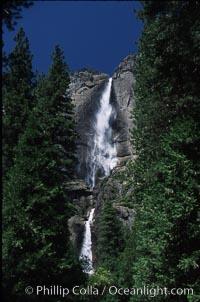 Yosemite Falls. Yosemite National Park, California, USA, natural history stock photograph, photo id 04630