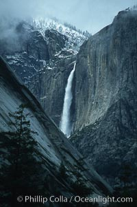 Yosemite Falls seen from Mist trail. Yosemite Falls, Yosemite National Park, California, USA, natural history stock photograph, photo id 05452