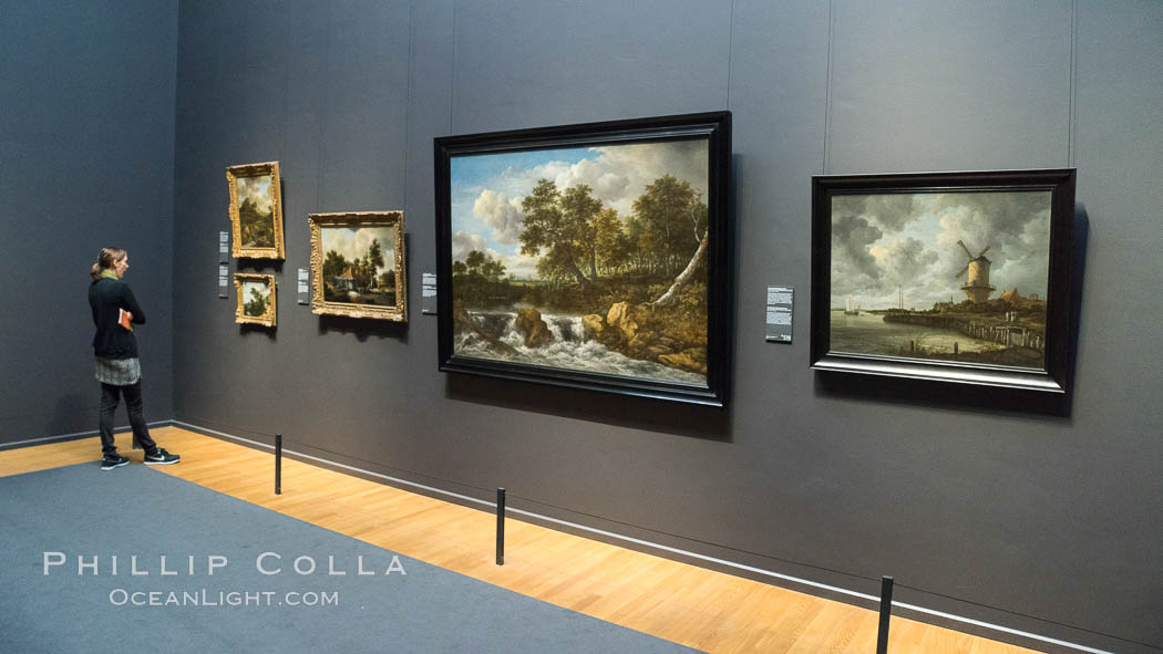 Rijksmuseum gallery and visitor, Amsterdam. Holland, Netherlands, natural history stock photograph, photo id 29450