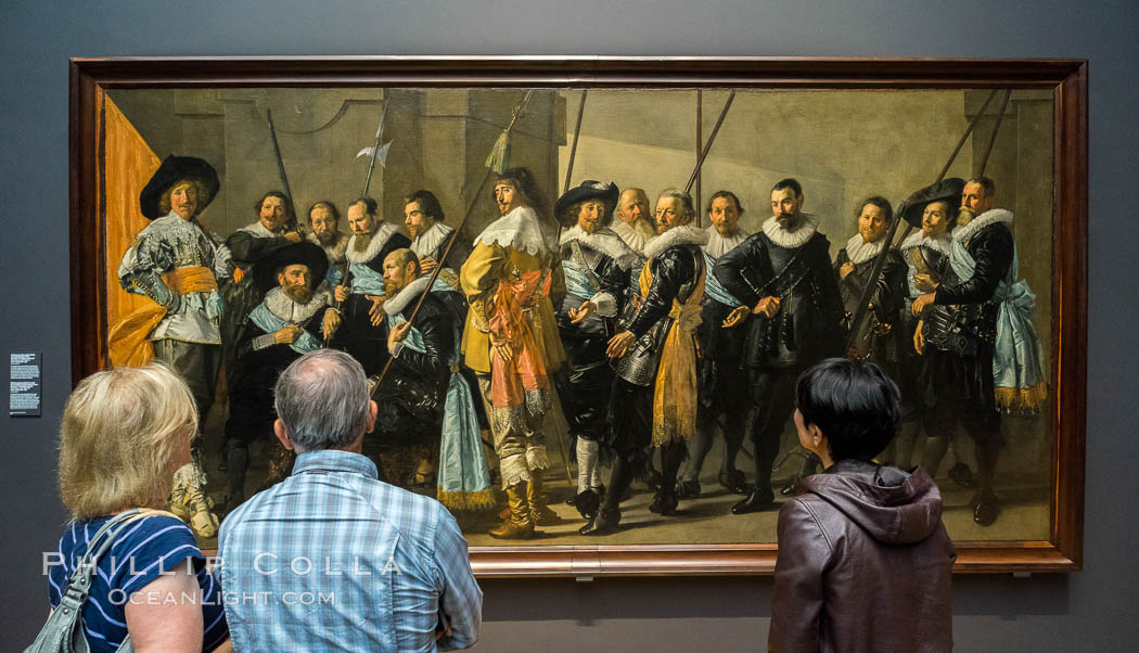 Militia Company of District XI under the Command of Captain Reynier Reael, Known as The Meagre Company, Frans Hals, Pieter Codde, 1637. Rijksmuseum, Amsterdam, Holland, Netherlands, natural history stock photograph, photo id 29468