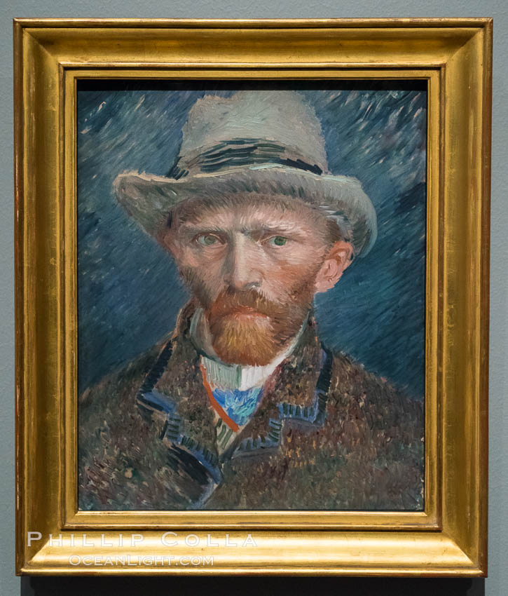 Self-portrait, Vincent van Gogh, 1887. Painting, h 42cm x w 34cm x d 8cm. Rijksmuseum, Amsterdam, Holland, Netherlands, natural history stock photograph, photo id 29471
