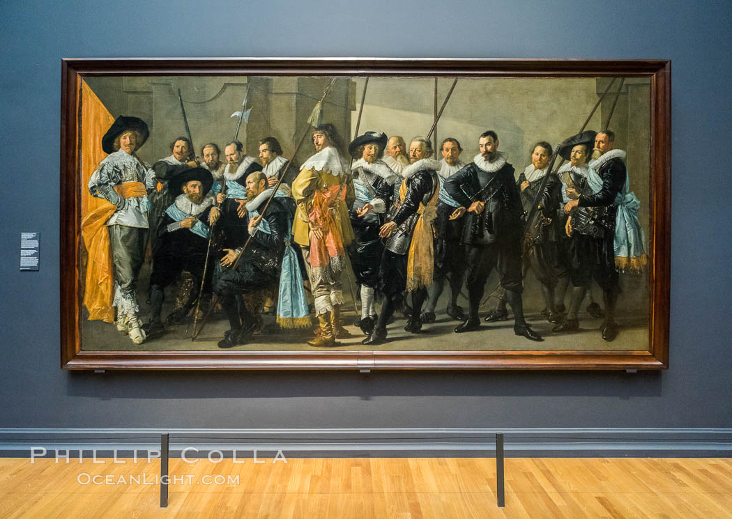 Militia Company of District XI under the Command of Captain Reynier Reael, Known as The Meagre Company, Frans Hals, Pieter Codde, 1637. Rijksmuseum, Amsterdam, Holland, Netherlands, natural history stock photograph, photo id 29475