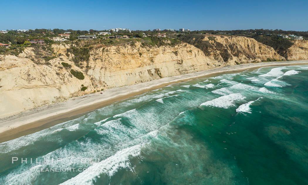 Aerial Photo of Blacks Beach and La Jolla Farms. La Jolla, California, USA, natural history stock photograph, photo id 30821
