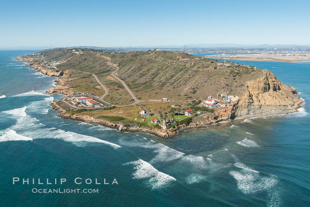 Aerial Photo of Cabrillo State Marine Reserve, Point Loma, San Diego. San Diego, California, USA, natural history stock photograph, photo id 30702