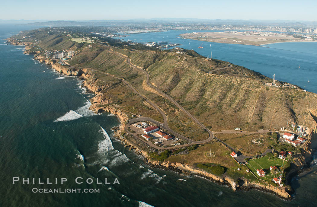 Aerial Photo of Cabrillo State Marine Reserve, Point Loma, San Diego. San Diego, California, USA, natural history stock photograph, photo id 30664