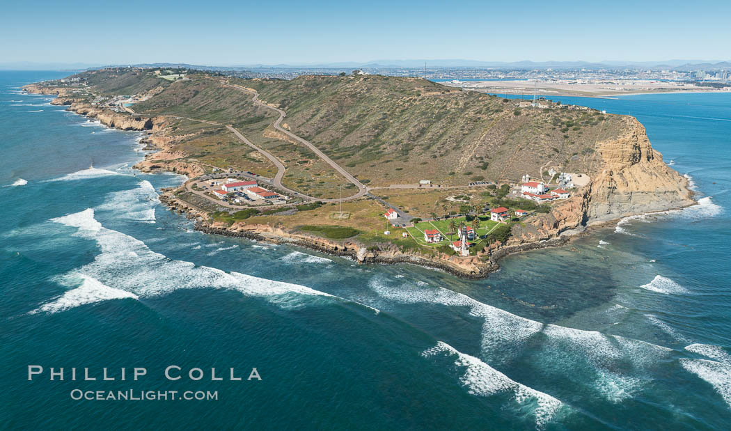 Aerial Photo of Cabrillo State Marine Reserve, Point Loma, San Diego. California, USA, natural history stock photograph, photo id 30641