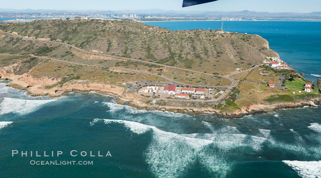 Aerial Photo of Cabrillo State Marine Reserve, Point Loma, San Diego. San Diego, California, USA, natural history stock photograph, photo id 30701