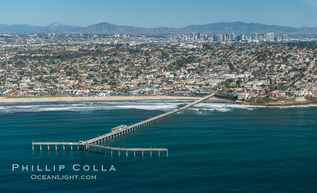 Aerial Photo of Imperial Beach Pier and Coastal Imperial Beach. Imperial Beach, California, USA, natural history stock photograph, photo id 30705