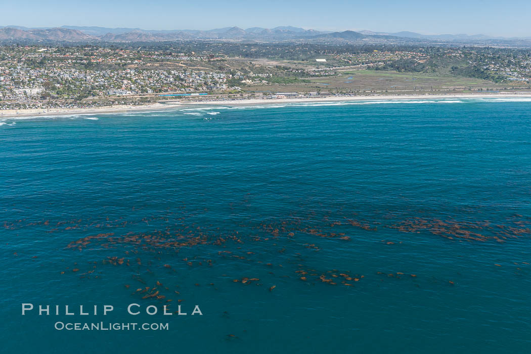 Aerial Photo of Swamis Marine Conservation Area.  Swami's State Marine Conservation Area (SMCA) is a marine protected area that extends offshore of Encinitas in San Diego County. California, USA, natural history stock photograph, photo id 30581
