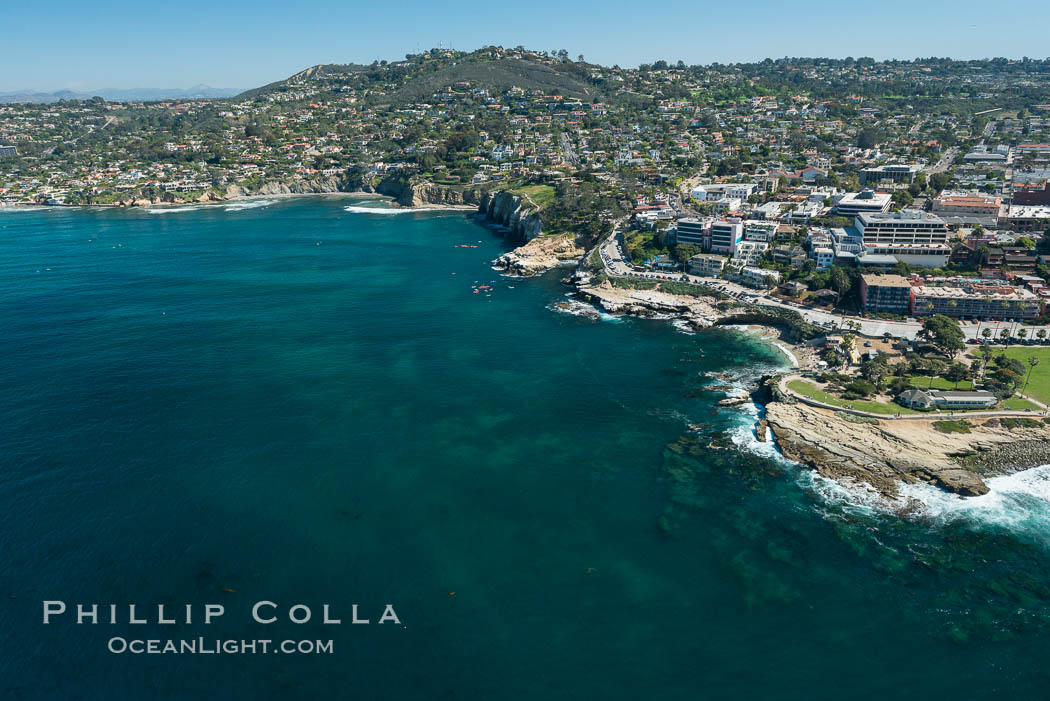 Aerial Photo of Matlahuayl State Marine Reserve (SMR), La Jolla Shores Beach. California, USA, natural history stock photograph, photo id 30634