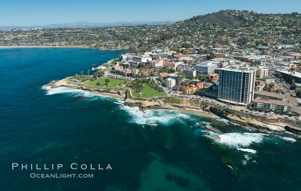Aerial Photo of Matlahuayl State Marine Reserve (SMR), La Jolla Shores Beach. California, USA, natural history stock photograph, photo id 30635