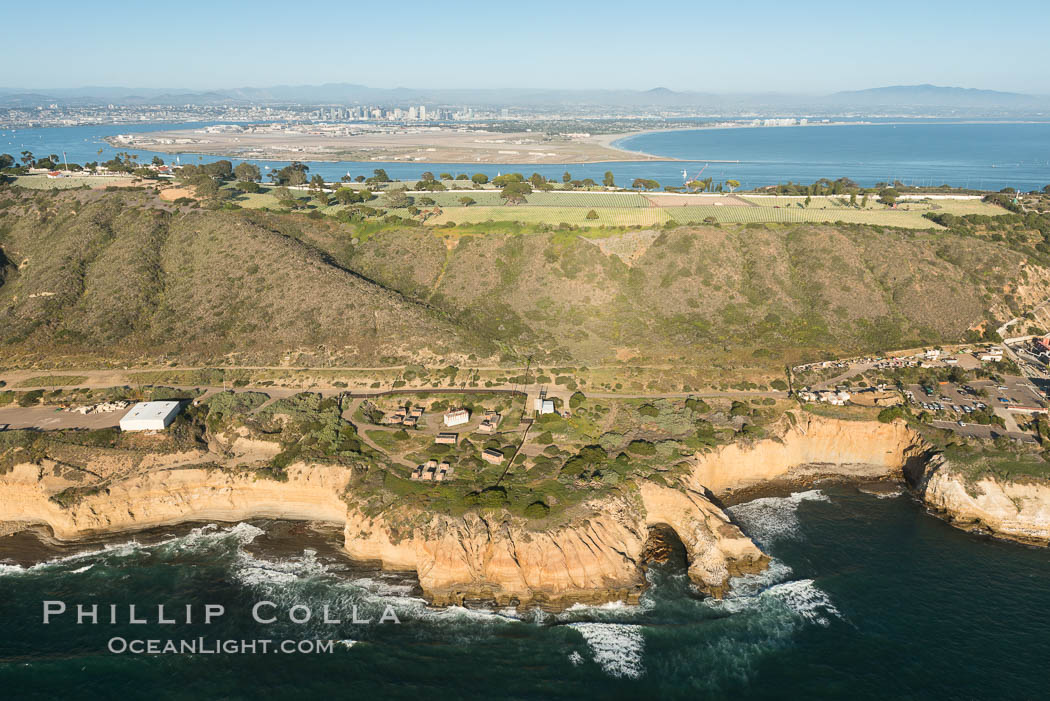 Aerial Photo of Point Loma and Fort Rosecrans. San Diego, California, USA, natural history stock photograph, photo id 30811