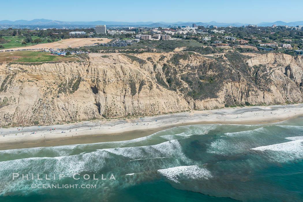 Aerial Photo of San Diego Scripps Coastal SMCA. Blacks Beach and Torrey Pines State Reserve. La Jolla, California, USA, natural history stock photograph, photo id 30620
