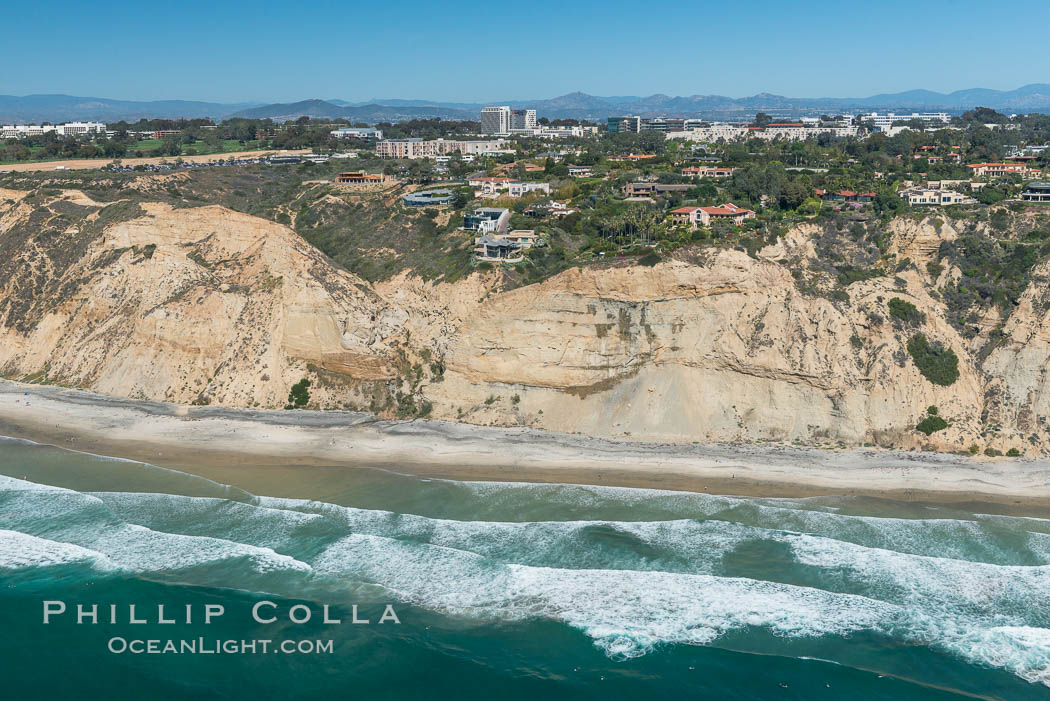 Aerial Photo of San Diego Scripps Coastal SMCA. Blacks Beach and Torrey Pines State Reserve. La Jolla, California, USA, natural history stock photograph, photo id 30621