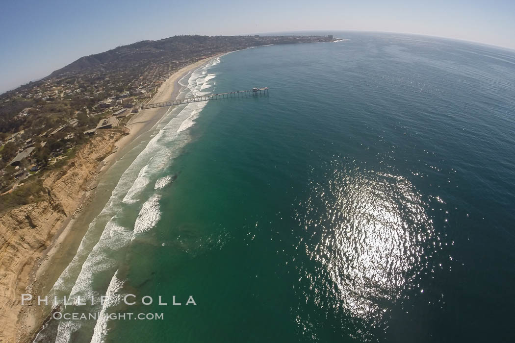 Aerial Photo of San Diego Scripps Coastal SMCA. Blacks Beach and Scripps Pier. La Jolla, California, USA, natural history stock photograph, photo id 30625