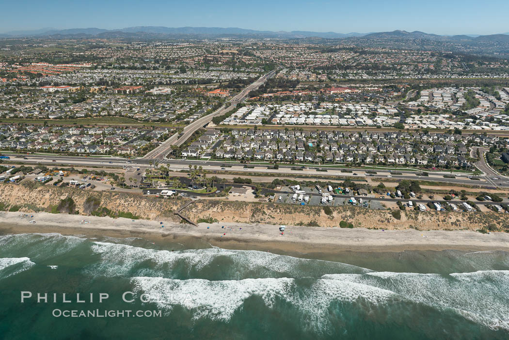 Aerial photo of South Carlsbad State Beach. California, USA, natural history stock photograph, photo id 30667