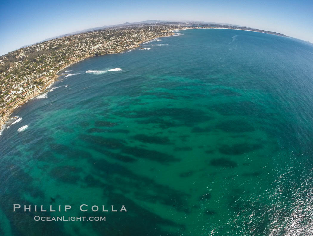 Aerial Photo of South La Jolla State Marine Reserve. California, USA, natural history stock photograph, photo id 30638