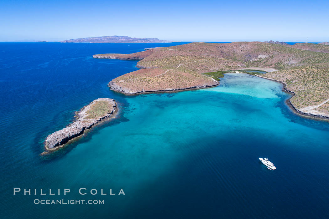 Aerial View near Playa Balandra and Lobera San Rafaelito, Sea of Cortez. Lobera San Rafaelito, Baja California, Mexico, natural history stock photograph, photo id 33828