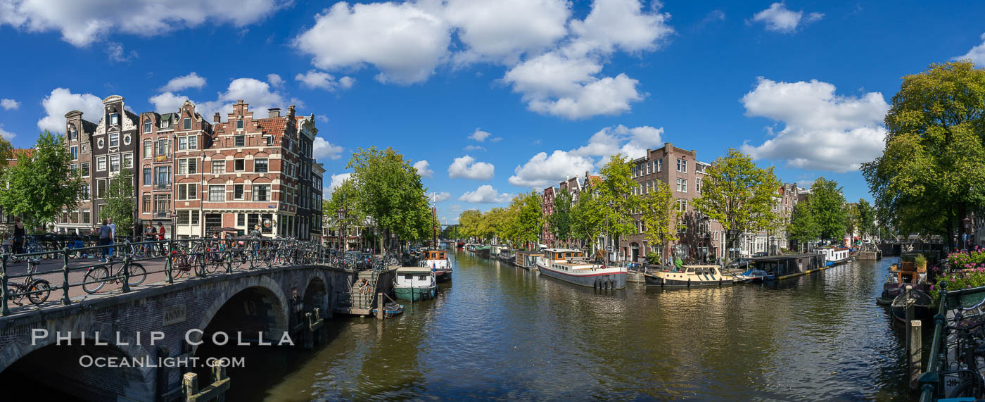 Amsterdam canals and quaint city scenery. Holland, Netherlands, natural history stock photograph, photo id 29437