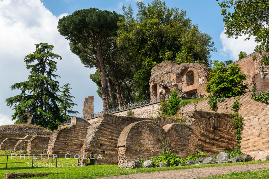 Ancient Roman ruins on the Palatine Hill, Rome. Palatine Hill, Rome, Italy, natural history stock photograph, photo id 35580