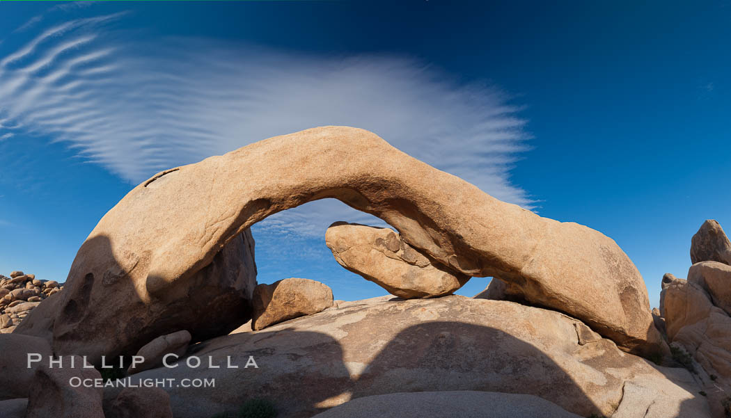 Arch Rock in Joshua Tree National Park.  A natural stone arch in the White Tank area of Joshua Tree N.P. Joshua Tree National Park, California, USA, natural history stock photograph, photo id 26766
