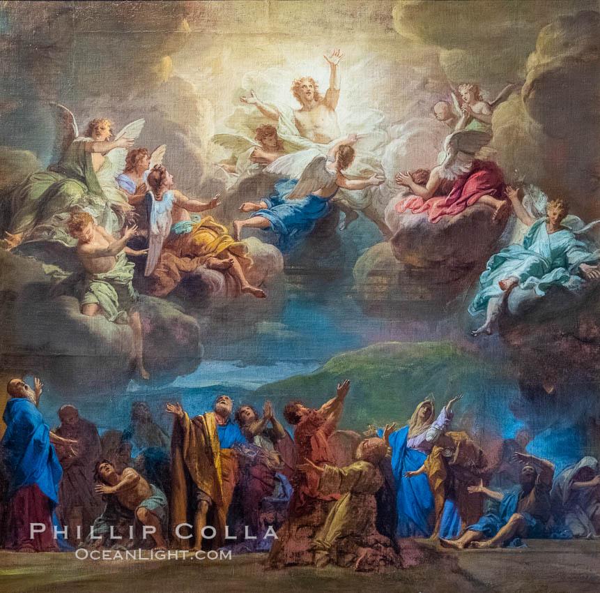 Ascension of Christ, Jouvenet, Chateau de Versailles. Chateau de Versailles, Paris, France, natural history stock photograph, photo id 35673