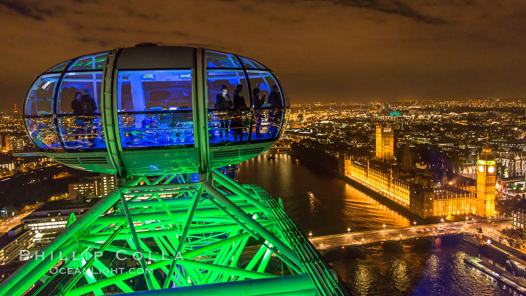 Atop the London Eye. United Kingdom, natural history stock photograph, photo id 28298