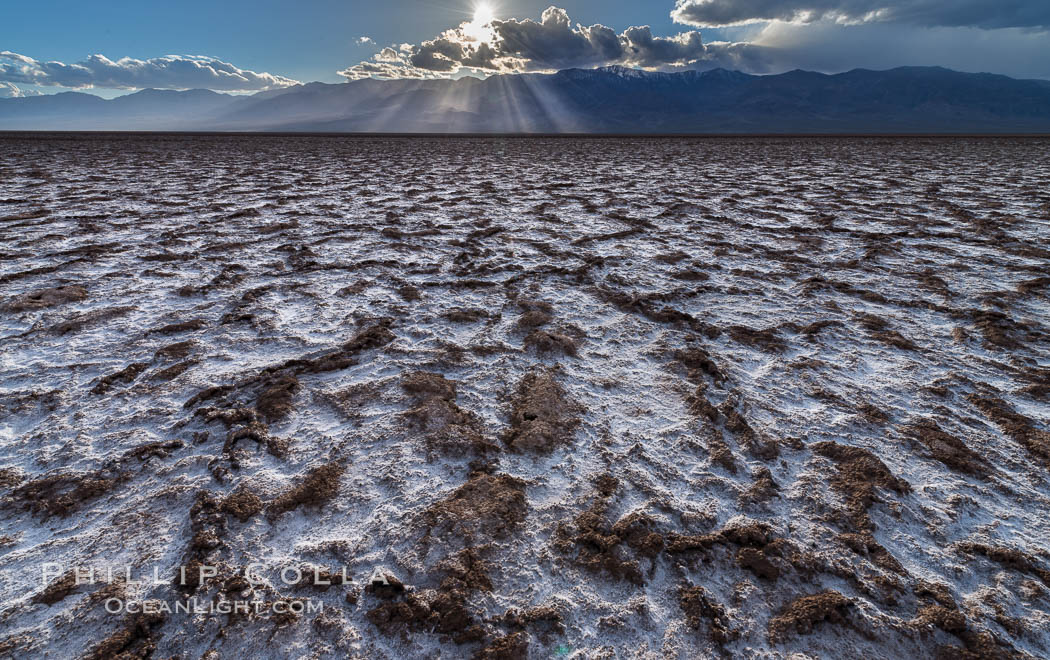 Erosion in the salt patterns of Badwater Playa, Death Valley National Park. Badwater, Death Valley National Park, California, USA, natural history stock photograph, photo id 30475