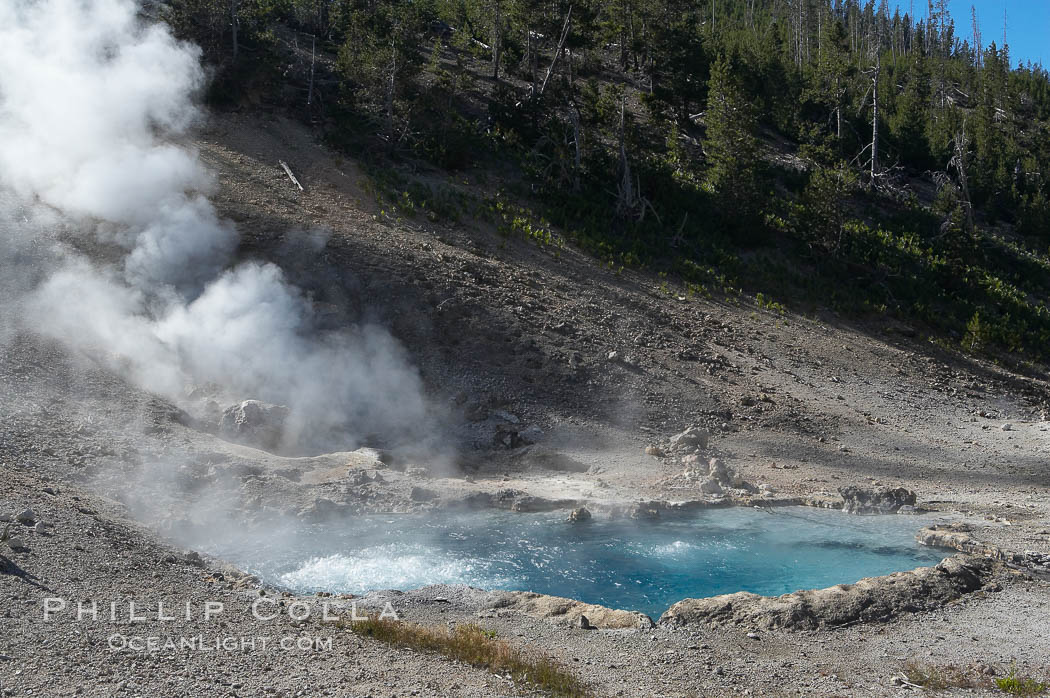 Beryl Spring is superheated with temperatures above the boiling point. Yellowstone National Park, Wyoming, USA, natural history stock photograph, photo id 13465