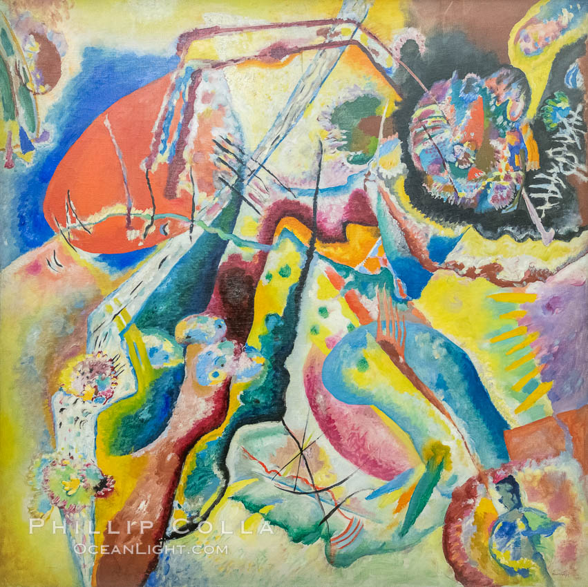 Bild mit rotem Fleck, 1914, Vassily Kandinsky, Le Centre Pompidou. Paris. Musee National dArt Moderne, France, natural history stock photograph, photo id 35682
