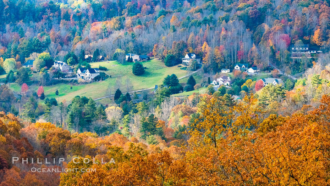 Blue Ridge Parkway Fall Colors, Asheville, North Carolina. Asheville, North Carolina, USA, natural history stock photograph, photo id 34649