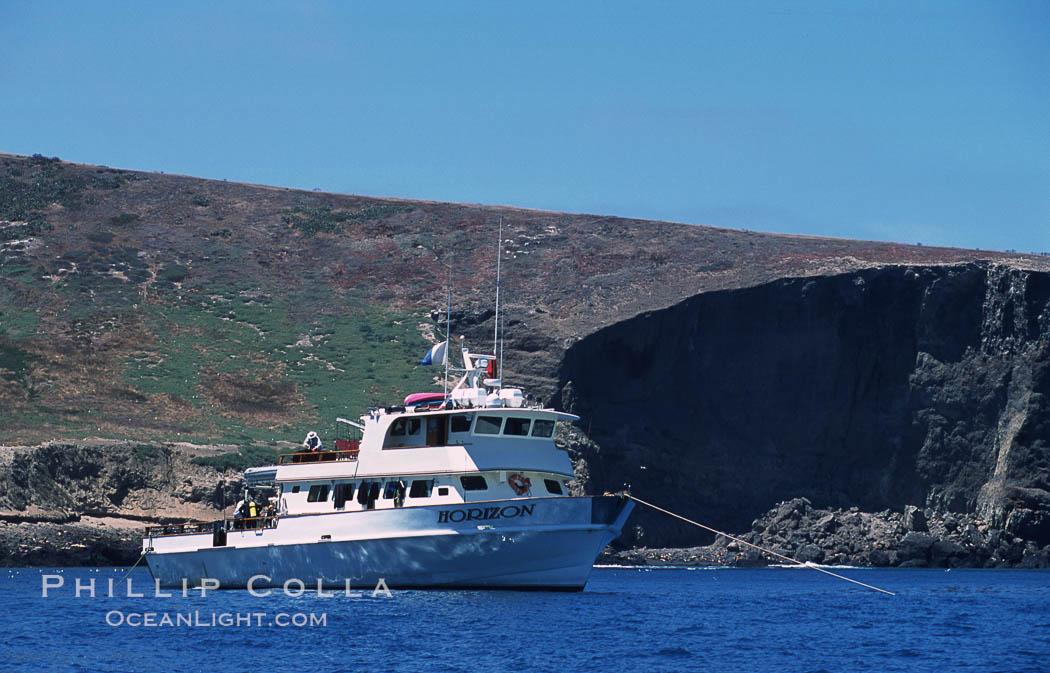 Boat Horizon at Santa Barbara Island. Santa Barbara Island, California, USA, natural history stock photograph, photo id 03745