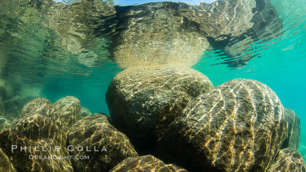 Boulders underwater, Lake Tahoe, Nevada. USA, natural history stock photograph, photo id 32345