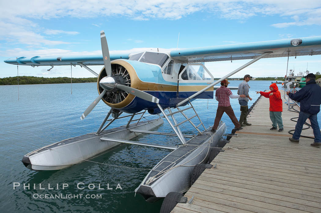 Waiting to board our float plane in King Salmon for the flight to Brooks Lake. King Salmon, Alaska, USA, natural history stock photograph, photo id 17390