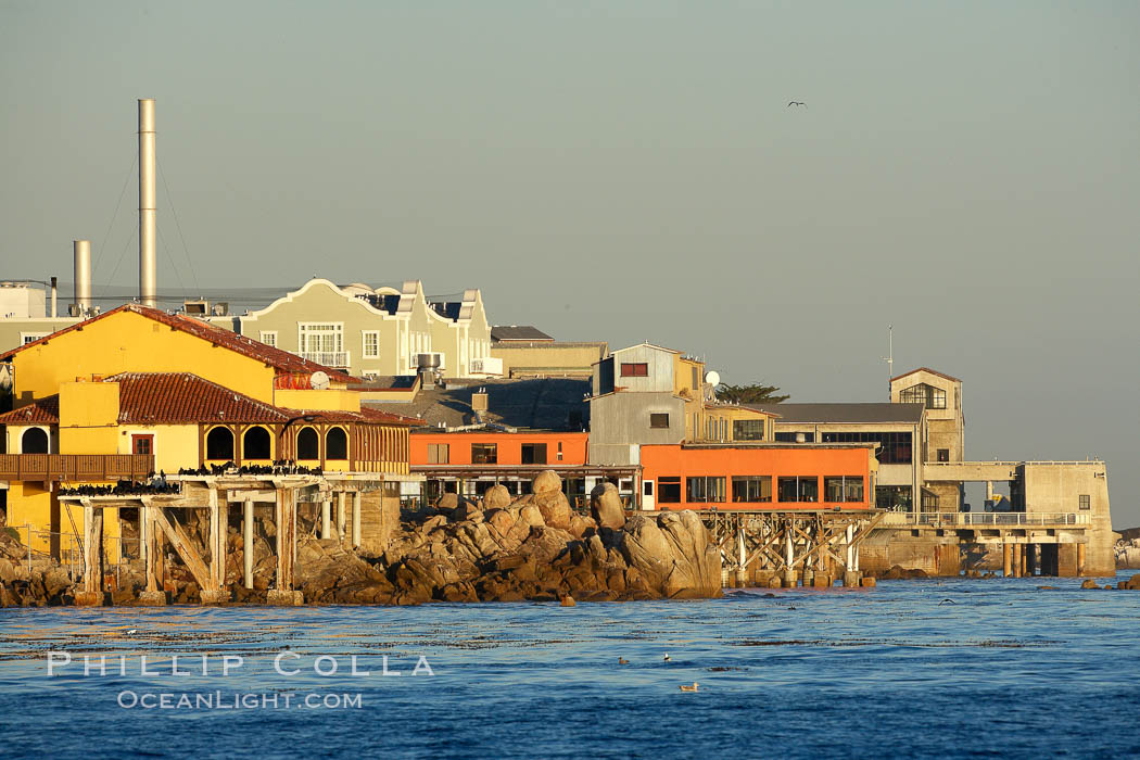 Cannery Row buildings, along the Monterey waterfront, early morning. California, USA, natural history stock photograph, photo id 21552