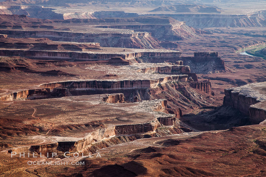 Soda Springs Basin from Green River Overlook, Island in the Sky, Canyonlands National Park, Utah. USA, natural history stock photograph, photo id 27841