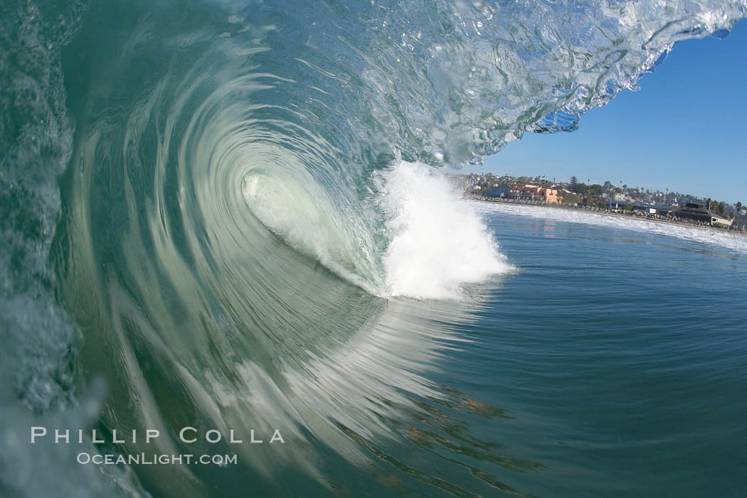Cardiff, morning surf. Cardiff by the Sea, California, USA, natural history stock photograph, photo id 17883