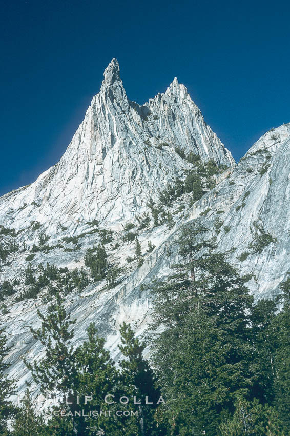 Cathedral Peak, Tuolumne Meadows. Yosemite National Park, California, USA, natural history stock photograph, photo id 02349