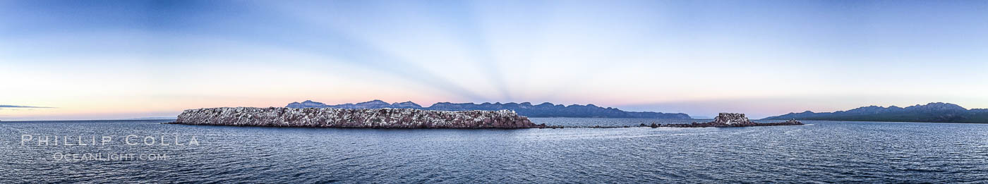 Cayo Island, sunrise panorama, Sea of Cortez, Mexico. Sea of Cortez, Baja California, Mexico, natural history stock photograph, photo id 31282