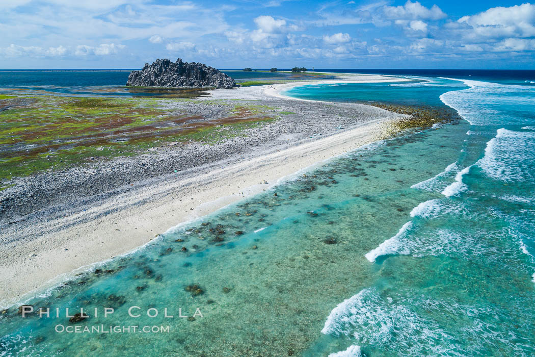 Clipperton Island aerial photo. Clipperton Island, a minor territory of France also known as Ile de la Passion, is a spectacular coral atoll in the eastern Pacific. By permit HC / 1485 / CAB (France). Clipperton Island, France, natural history stock photograph, photo id 32840