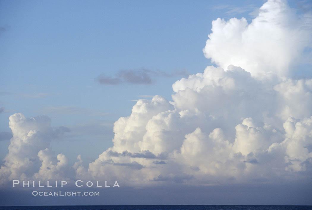 Clouds. Bahamas, natural history stock photograph, photo id 05650
