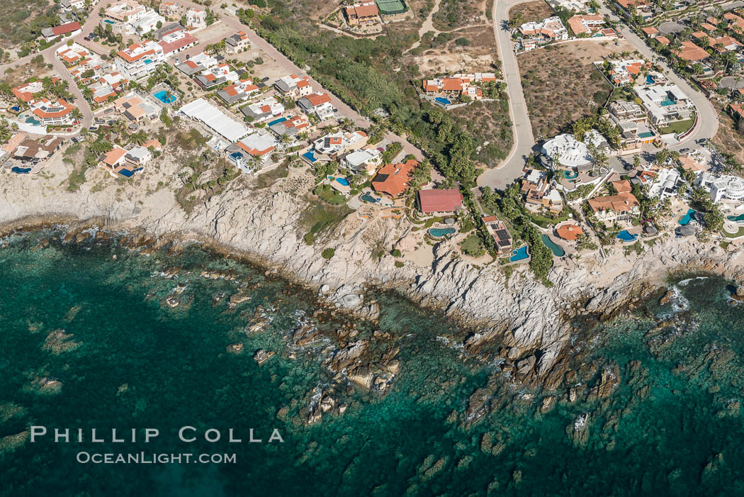 Residential and resort development along the coast near Cabo San Lucas, Mexico. Baja California, natural history stock photograph, photo id 28934