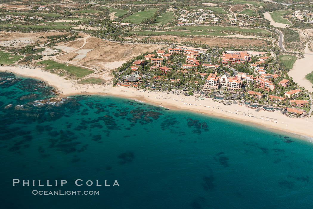 Hacienda del Mar and Vista Azul resorts. Residential and resort development along the coast near Cabo San Lucas, Mexico. Baja California, natural history stock photograph, photo id 28928