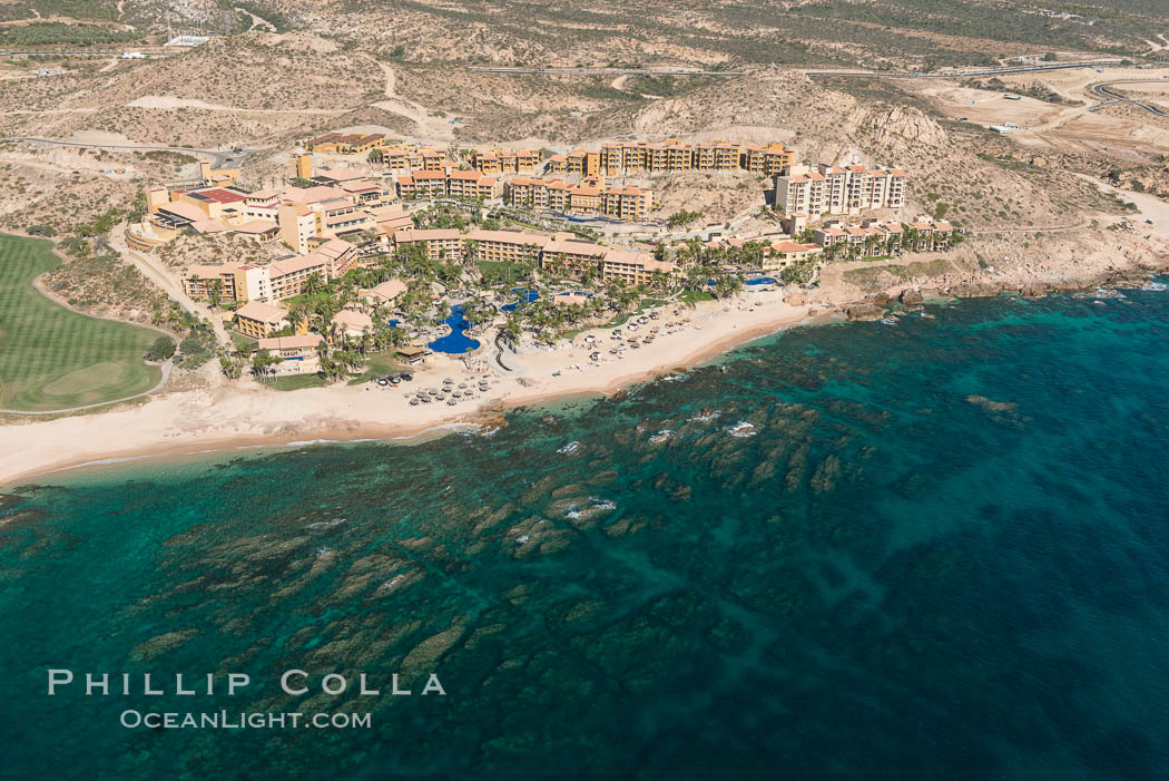 Fiesta American Grand Resort. Residential and resort development along the coast near Cabo San Lucas, Mexico. Baja California, natural history stock photograph, photo id 28915