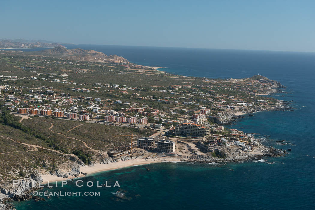 Residential and resort development along the coast near Cabo San Lucas, Mexico. Baja California, natural history stock photograph, photo id 28901