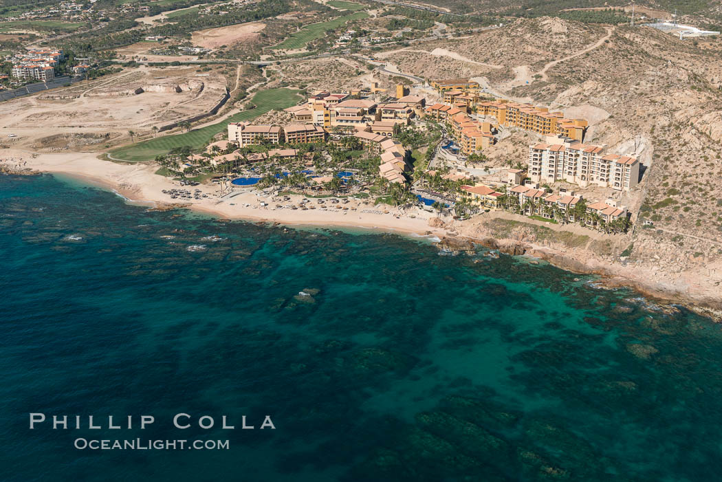 Image 28917, Fiesta American Grand Resort. Residential and resort development along the coast near Cabo San Lucas, Mexico. Cabo San Lucas, Baja California, Mexico, Phillip Colla, all rights reserved worldwide. Keywords: abaja, aerial, aerial photograph, baja california, beach, cabo san lucas, coast, development, hotel, mexico, ocean, real estate, resort, sea, sea of cortez, ultralight.