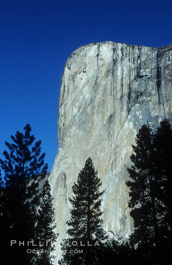 El Capitan viewed from Cathedral Beach along Merced River, Yosemite Valley. El Capitan, Yosemite National Park, California, USA, natural history stock photograph, photo id 07026