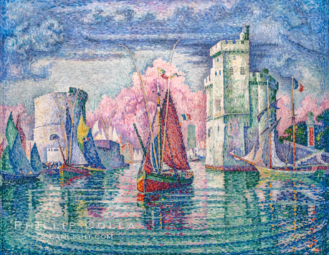Image 35616, Entrance to the Port of La Rochelle, 1921, Paul Signac, Musee d'Orsay, Paris, Musee d'Orsay, Paris. Musee dOrsay, France, Phillip Colla, all rights reserved worldwide. Keywords: art, france, musee, musee d orsay, museum, orsay, paris, paul signac, signac.