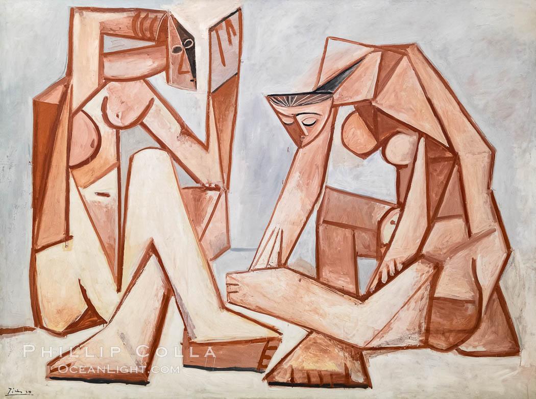 Femmes devant la mer, 1956, Pablo Picasso, Le Centre Pompidou. Paris. Musee National dArt Moderne, Paris, France, natural history stock photograph, photo id 35628